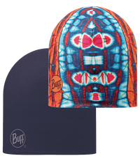 Microfiber Reversible Hat - Neon Sides Orange-Blue