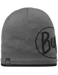 Knitted & Fleece Hat - Logo Graphite