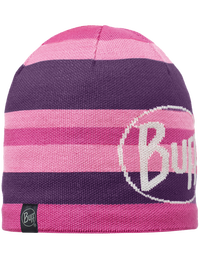 Knitted & Fleece Hat Ovel Plum