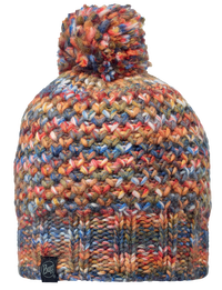 Knitted Pom Pom Hats - Margo Orange
