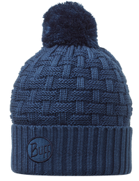 Knitted Pom Pom Hats - Airon Blue