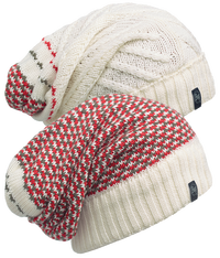 Knitted Neckwarmer Hat - Zile Cream