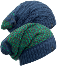 Knitted Neckwarmer Hat - Zile Blue