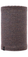 Knitted & Polar Fleece Neckwarmer - Lile Brown