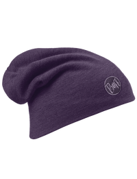 Merino Wool Thermal Hat - Plum