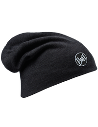 Merino Wool Thermal Hat - Black