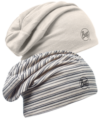 Merino Wool Reversible Hat - Ecru Snow