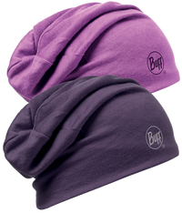 Merino Wool Reversible Hat - Plum