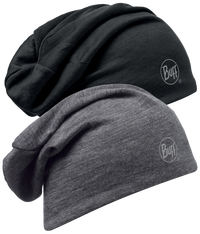 Merino Wool Reversible Hat - Black