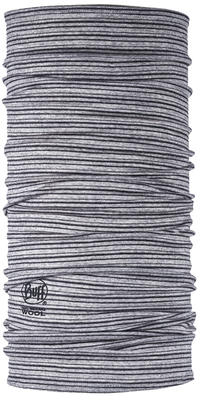 Merino Wool Buff - Light Grey Stripes
