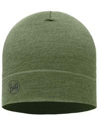 Midweight Merino Wool Hat Light Military Melange