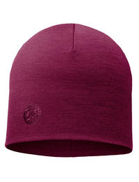 Heavyweight Merino Wool Hat Purple Raspebrry