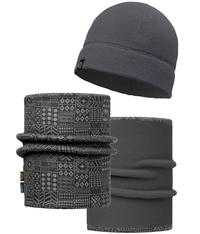 Polar Hat and Neckwear Set - Denver Grey