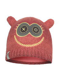 Child Knitted & Fleece Hat - Monster Pink