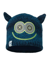 Child Knitted & Fleece Hat Monster Dark Navy