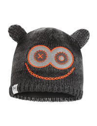 Child Knitted & Fleece Hat Monster Black