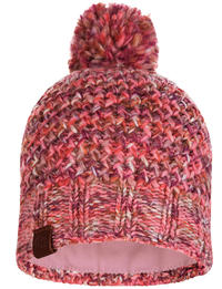 Knitted & Fleece Hat - Margo Flamingo Pink