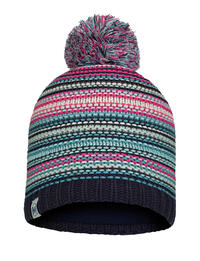 Junior Knitted & Fleece Hat Amity Night Blue