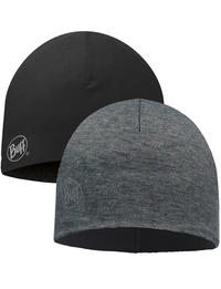 Microfiber Reversible Hat - Grey Stripes