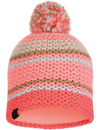 Knitted & Fleece Hat - Dorian Coral Pink
