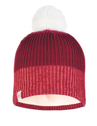 Junior Knitted & Fleece Hat - Audny Wine
