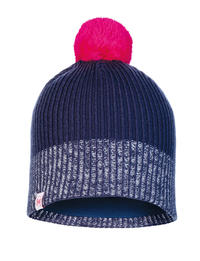 Junior Knitted & Fleece Hat - Audny Night Blue
