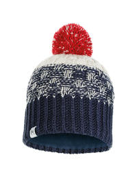 Junior Knitted & Polar Hat - Tait Dark Denim