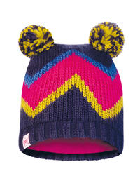 Child Knitted & Fleece Hat - Arlid Blue