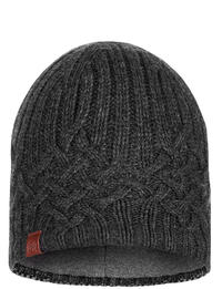 Knitted & Fleece Hat Helle Graphite