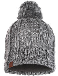 Knitted & Fleece Hat - Liv Pebble Grey