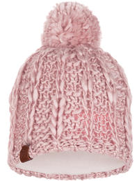 Knitted & Fleece Hat Liv Coral Pink