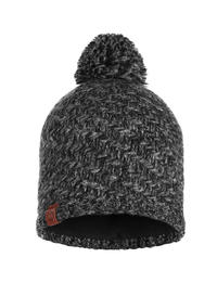 Knitted & Polar Hat - Agna Black