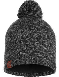 Knitted & Fleece Hat - Agna Black