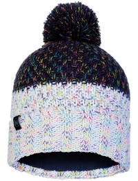 Knitted & Fleece Hat - Janna Night Blue
