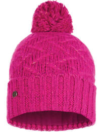 Knitted & Fleece Hat - Ebba Bright Pink