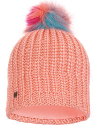 Knitted & Fleece Hat - Dania Peach