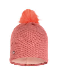 Knitted & Polar Hat - Disa Peach