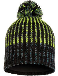 Knitted & Fleece Hat - Iver Black