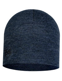 Midweight Merino Wool Hat Night Blue Melange