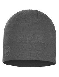 Midweight Merino Wool Hat - Light Grey Melange