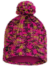 Knitted & Fleece Hat - Livy Magenta