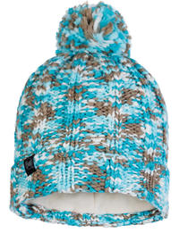Knitted & Fleece Hat - Livy Aqua