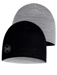 Junior Lightweight Merino Wool Hat Black/Grey