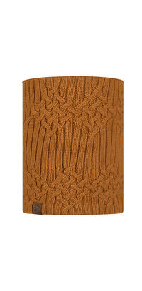 Knitted & Fleece Neckwarmer - Helle Mustard