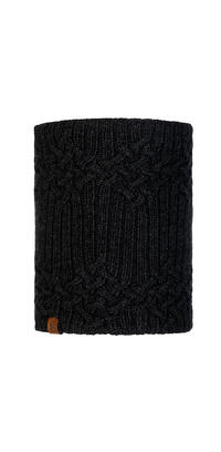 Knitted & Fleece Neckwarmer - Helle Graphite