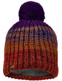 Knitted & Fleece Beanie Alina Rusty