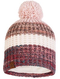 Knitted & Fleece Hat - Alina Blossom Red