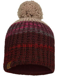 Knitted & Fleece Hat Alina Maroon