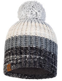 Knitted & Fleece Hat - Alina Grey