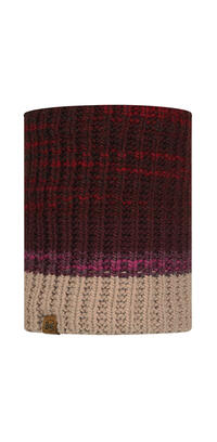 Knitted & Fleece Neckwarmer - Alina Maroon
